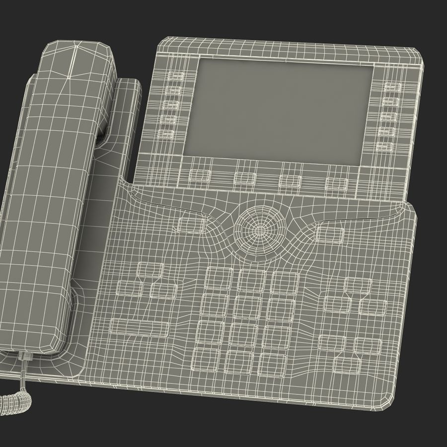 Telefone IP Cisco 8861 royalty-free 3d model - Preview no. 32