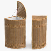 Wicker Basket Rattan 4 3d model