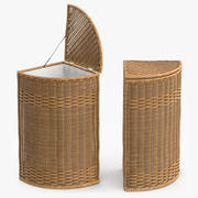 Wicker Basket Rattan 4 3d model