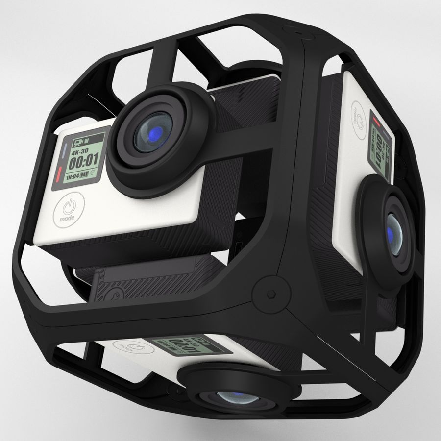 Virtual Reality Camera Rig royalty-free 3d model - Preview no. 1
