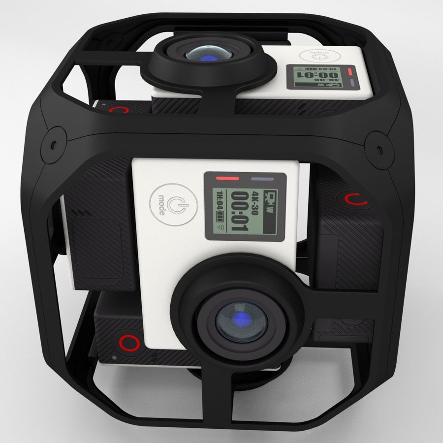 Virtual Reality Camera Rig royalty-free 3d model - Preview no. 3