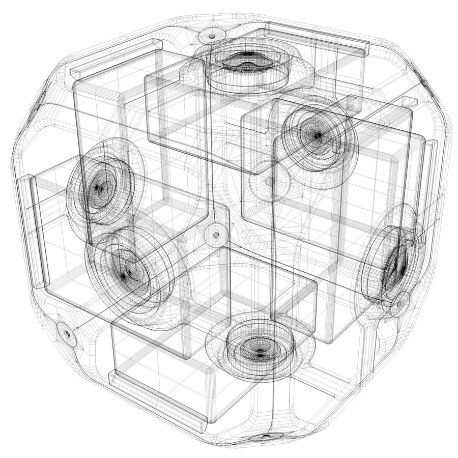 Virtual Reality Camera Rig royalty-free 3d model - Preview no. 6