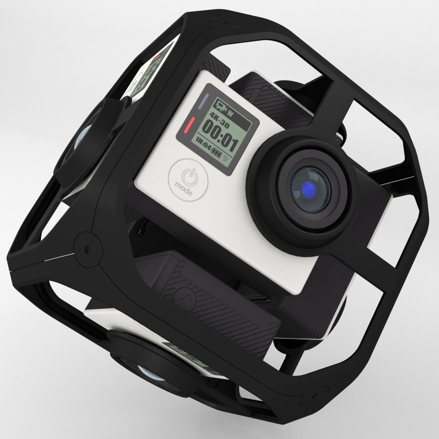 Virtual Reality Camera Rig royalty-free 3d model - Preview no. 5