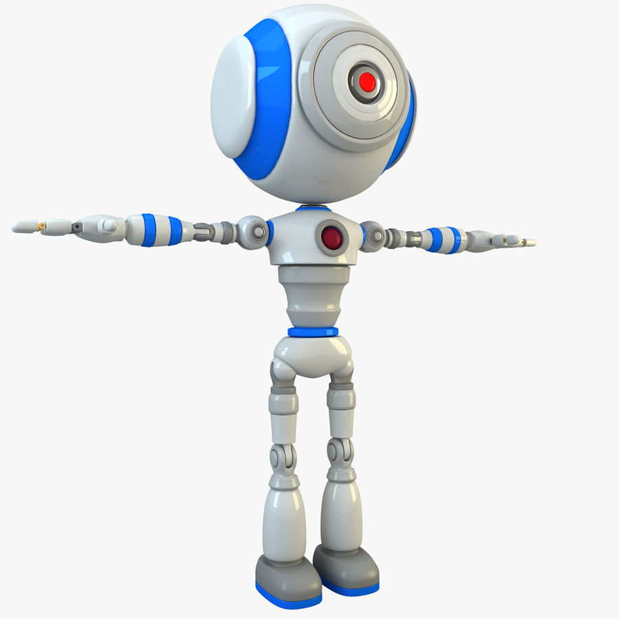 Robot karakter royalty-free 3d model - Preview no. 1