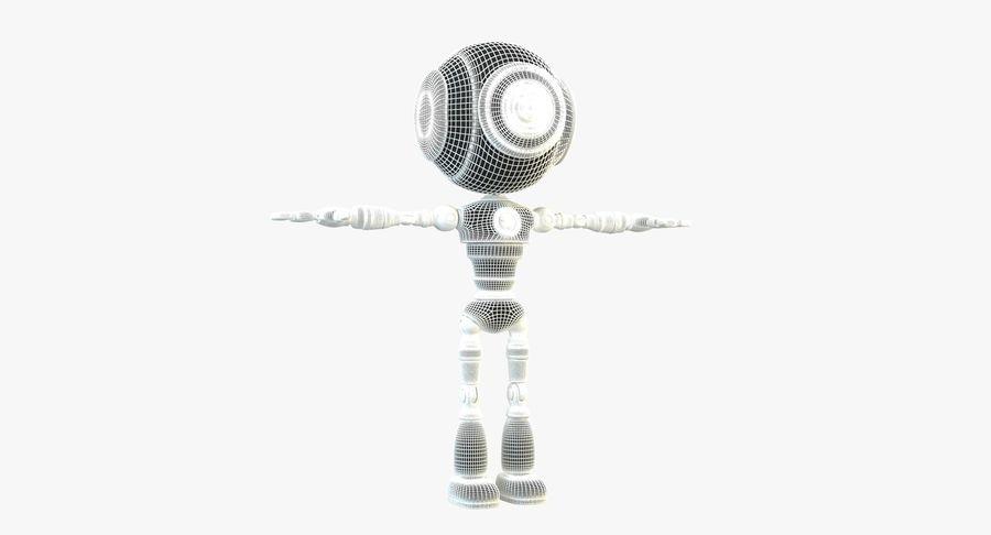 Robot karakter royalty-free 3d model - Preview no. 15