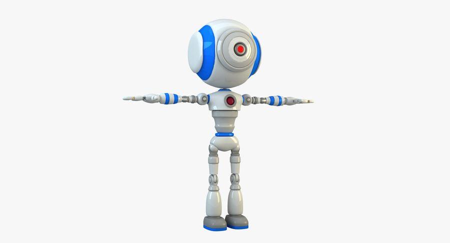 Robot karakter royalty-free 3d model - Preview no. 3