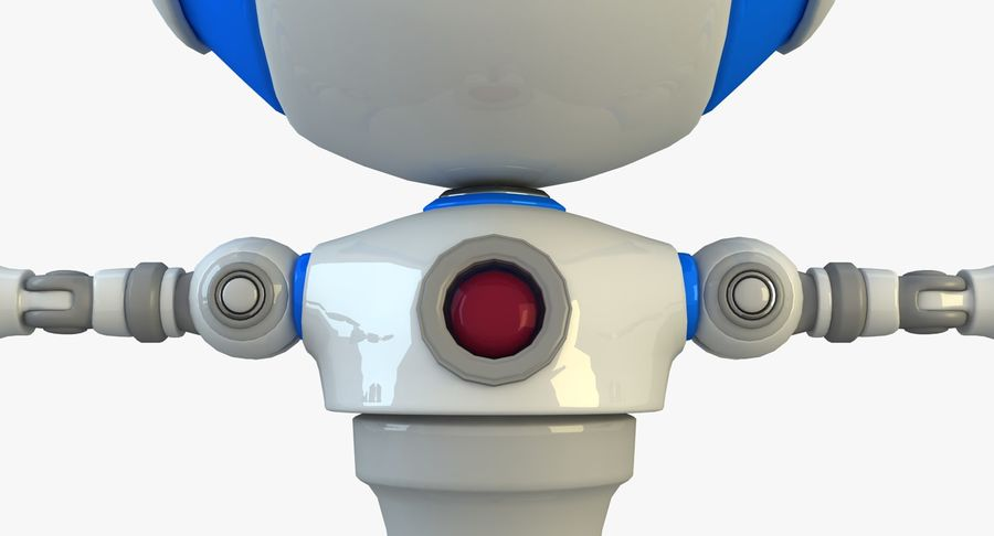 Robot karakter royalty-free 3d model - Preview no. 8