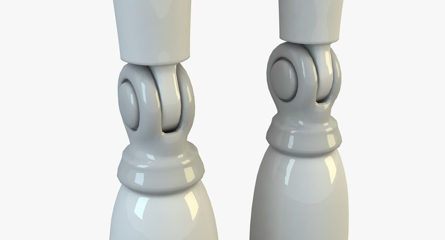 Robot karakter royalty-free 3d model - Preview no. 13