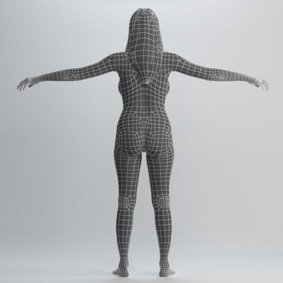 Piękna kobieta 2 royalty-free 3d model - Preview no. 9