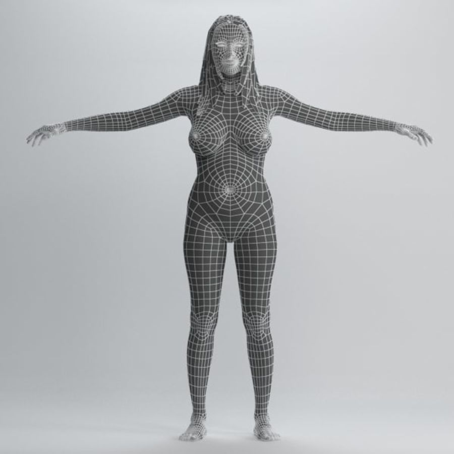 Skönhet kvinna 2 royalty-free 3d model - Preview no. 10