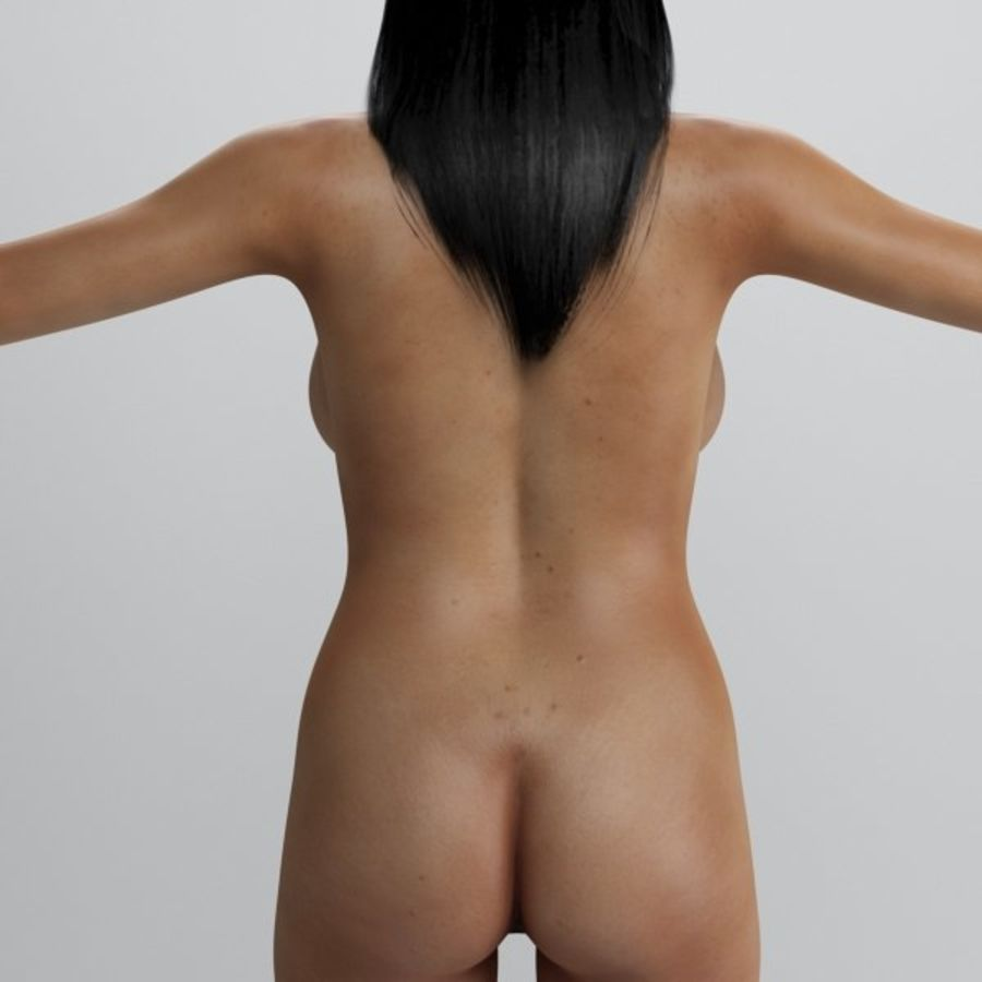 Skönhet kvinna 2 royalty-free 3d model - Preview no. 8