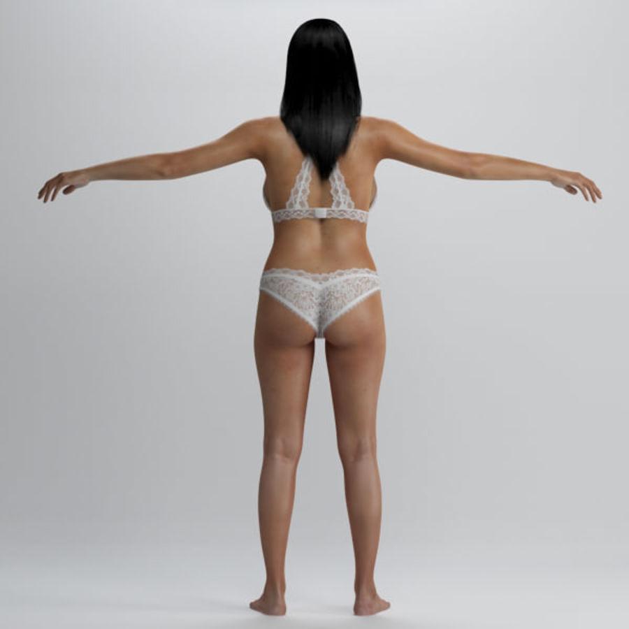 Piękna kobieta 2 royalty-free 3d model - Preview no. 3