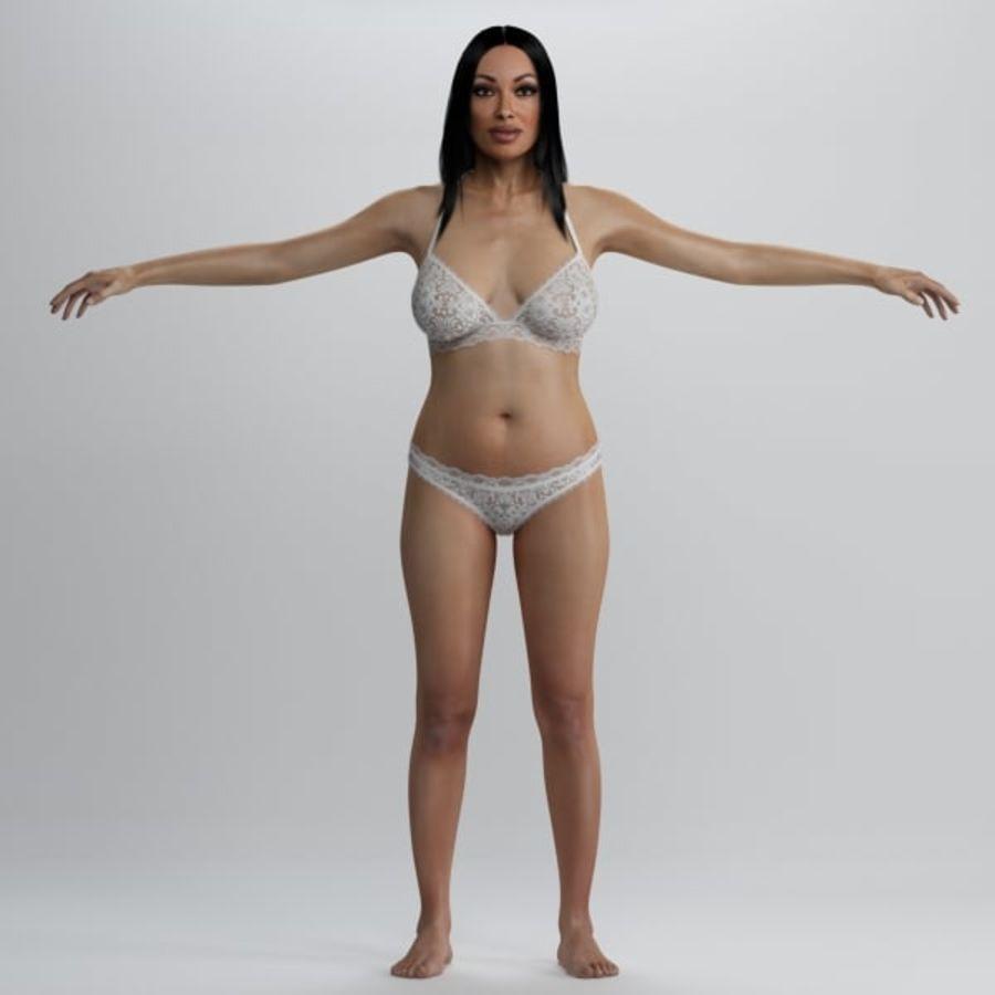 Piękna kobieta 2 royalty-free 3d model - Preview no. 1