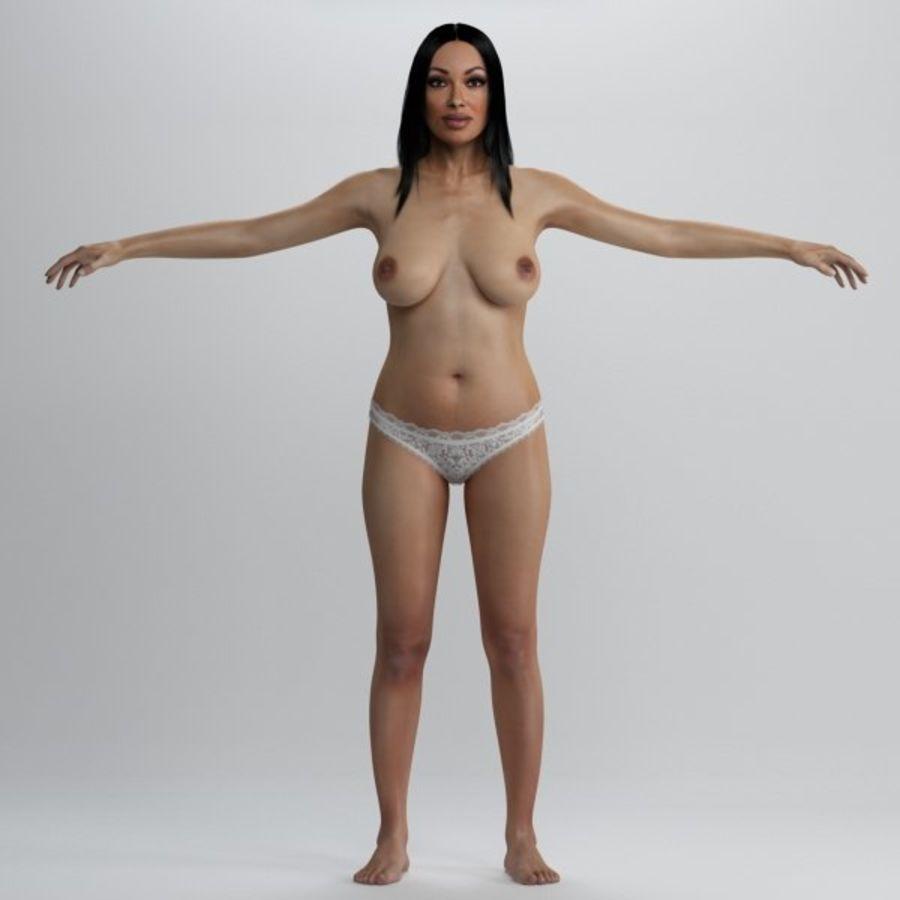 Piękna kobieta 2 royalty-free 3d model - Preview no. 4