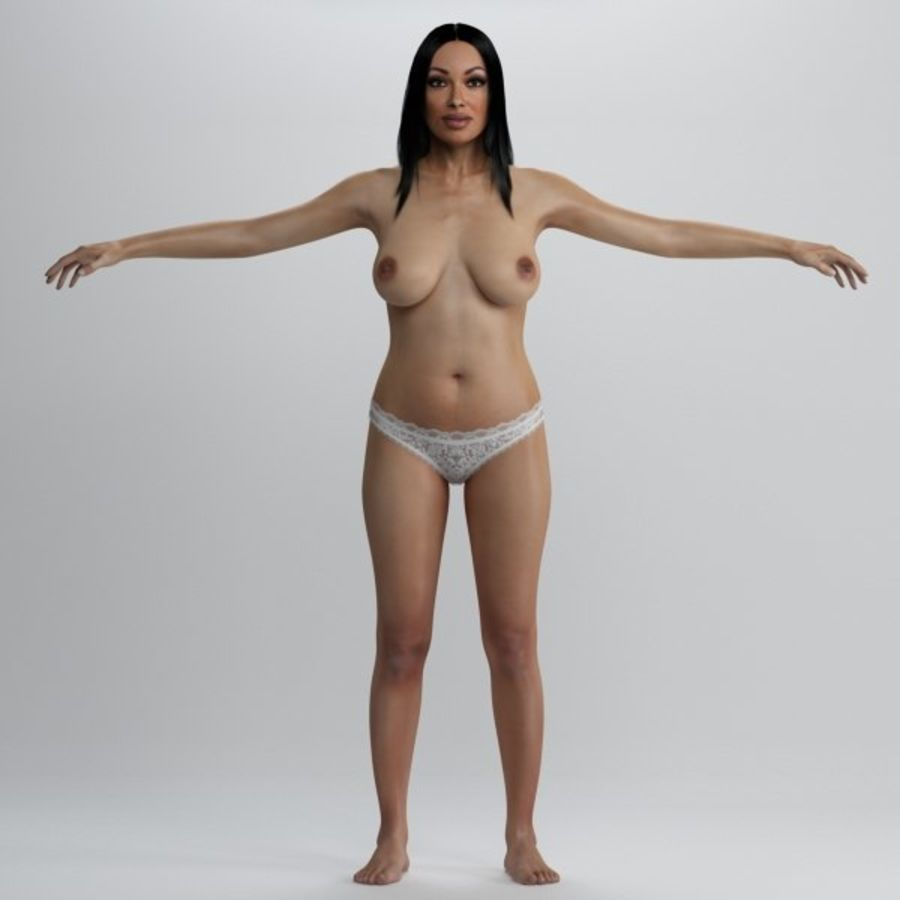 Skönhet kvinna 2 royalty-free 3d model - Preview no. 4