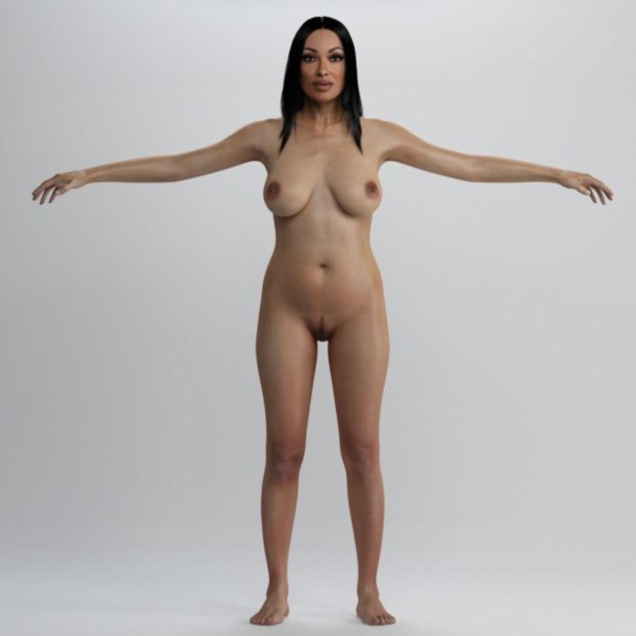 Piękna kobieta 2 royalty-free 3d model - Preview no. 5