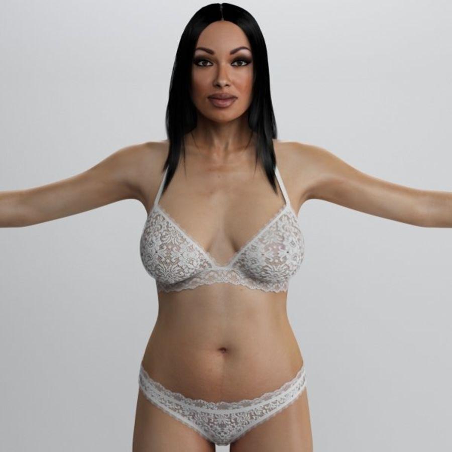 Piękna kobieta 2 royalty-free 3d model - Preview no. 2