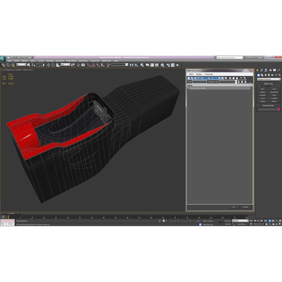 Formula One Cockpit Modèle 3D royalty-free 3d model - Preview no. 18