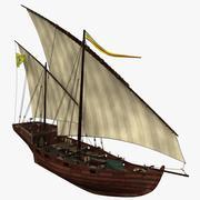 单桅帆船 3d model