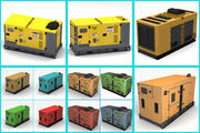 verzameling stroomgeneratoren 3d model