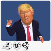 リアルタイムドナルドトランプ漫画の似顔絵 3d model