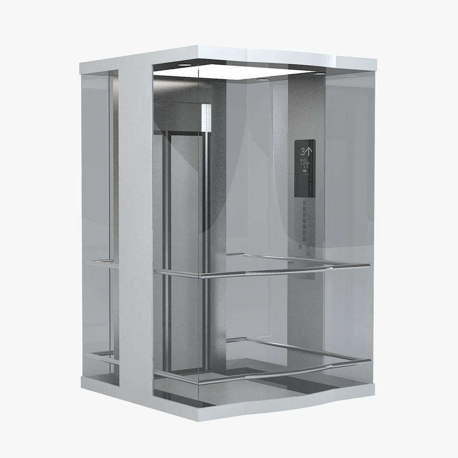 透明玻璃电梯 royalty-free 3d model - Preview no. 1