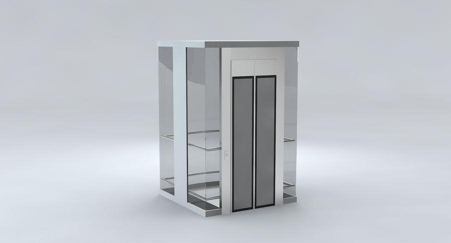 透明玻璃电梯 royalty-free 3d model - Preview no. 8