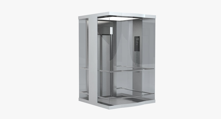 透明玻璃电梯 royalty-free 3d model - Preview no. 2