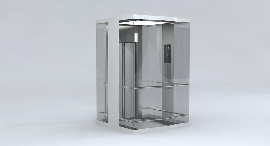 透明玻璃电梯 royalty-free 3d model - Preview no. 3
