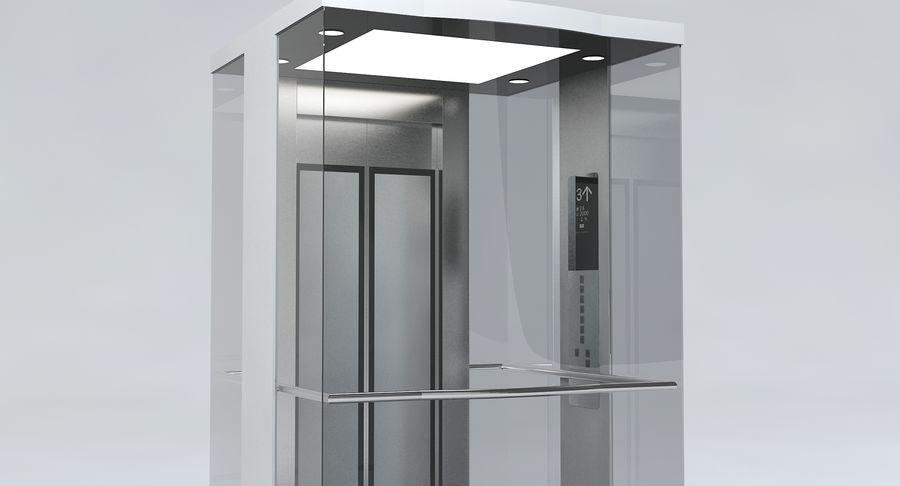 透明玻璃电梯 royalty-free 3d model - Preview no. 6