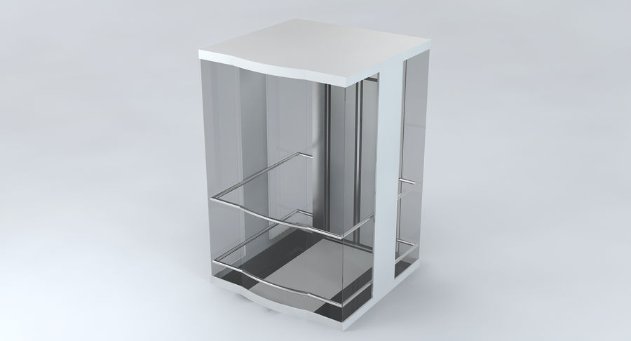 透明玻璃电梯 royalty-free 3d model - Preview no. 5
