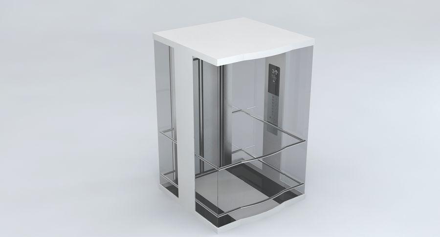 透明玻璃电梯 royalty-free 3d model - Preview no. 4