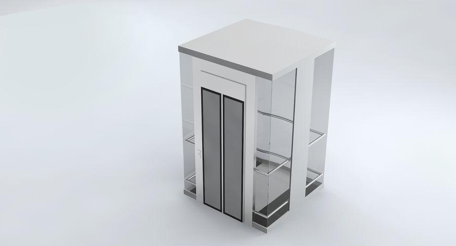 透明玻璃电梯 royalty-free 3d model - Preview no. 7