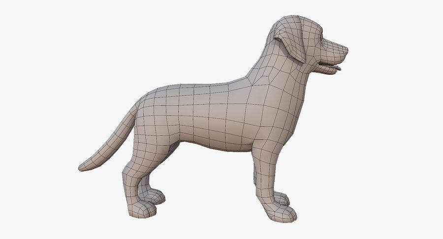 Cartoon Labrador royalty-free 3d model - Preview no. 9