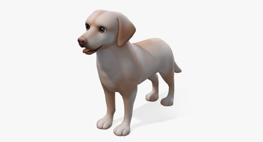 Cartoon Labrador royalty-free 3d model - Preview no. 2