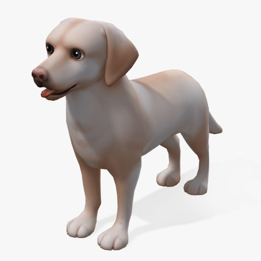 Cartoon Labrador royalty-free 3d model - Preview no. 1