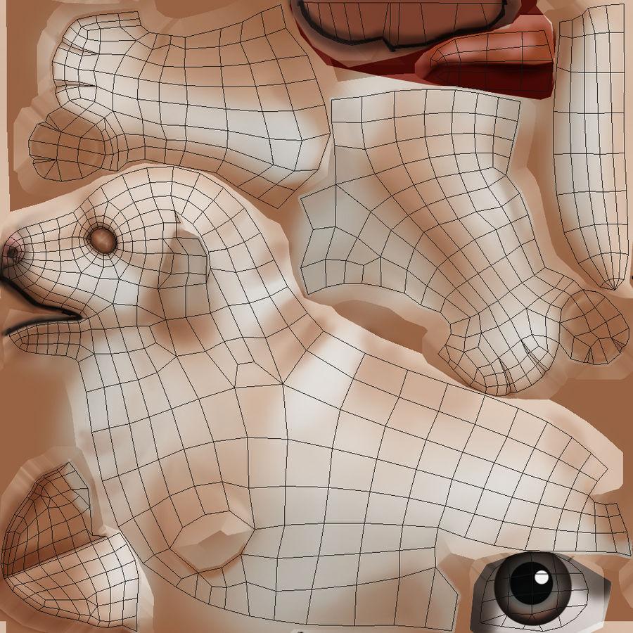 Cartoon Labrador royalty-free 3d model - Preview no. 12