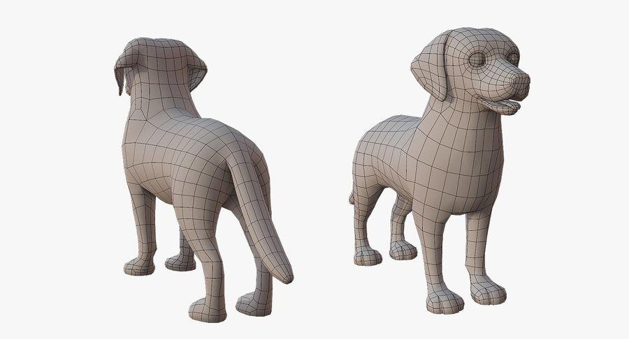 Cartoon Labrador royalty-free 3d model - Preview no. 5