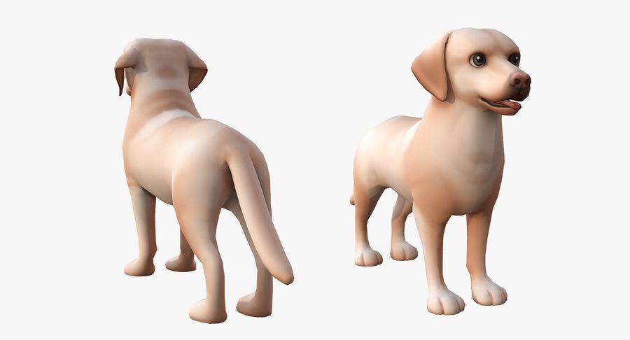 Cartoon Labrador royalty-free 3d model - Preview no. 4