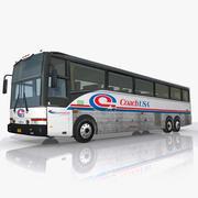 USA Coach Bus 3d model