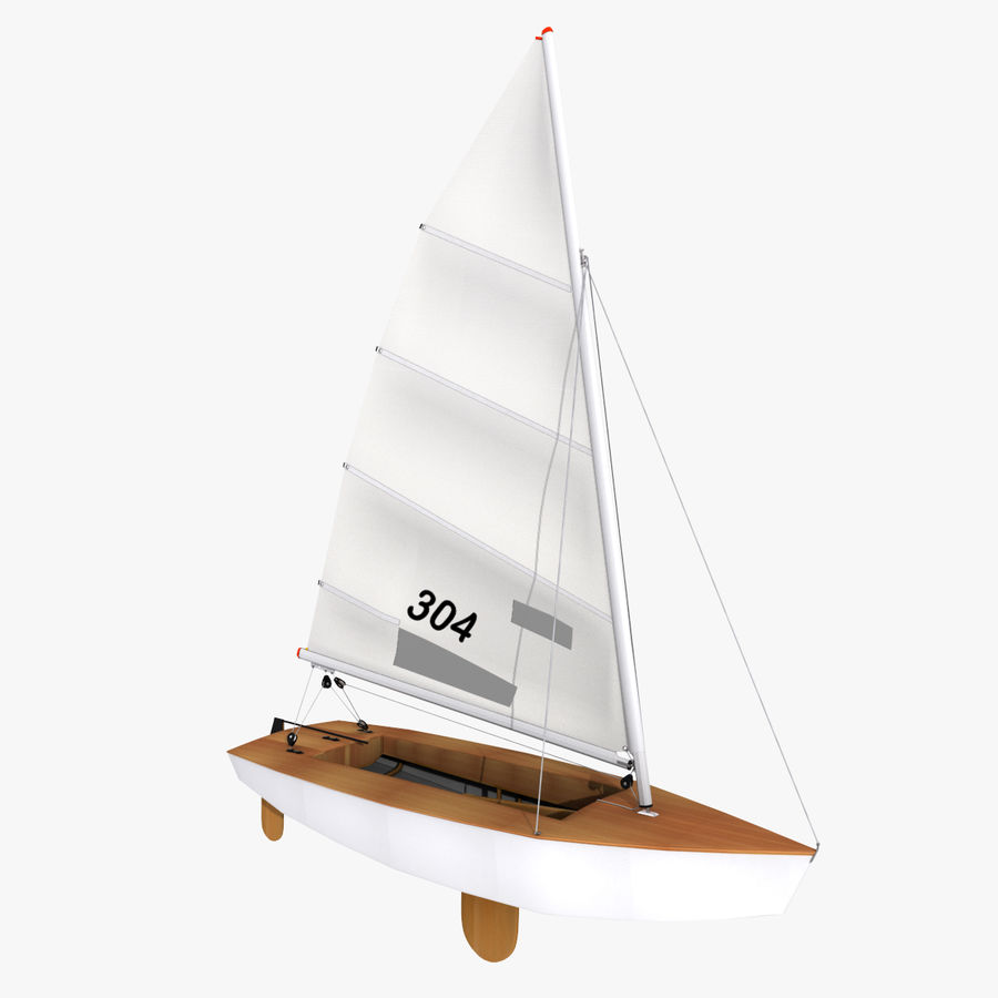 Segelboot royalty-free 3d model - Preview no. 4