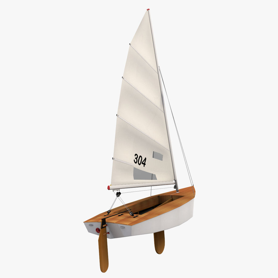 Segelboot royalty-free 3d model - Preview no. 7