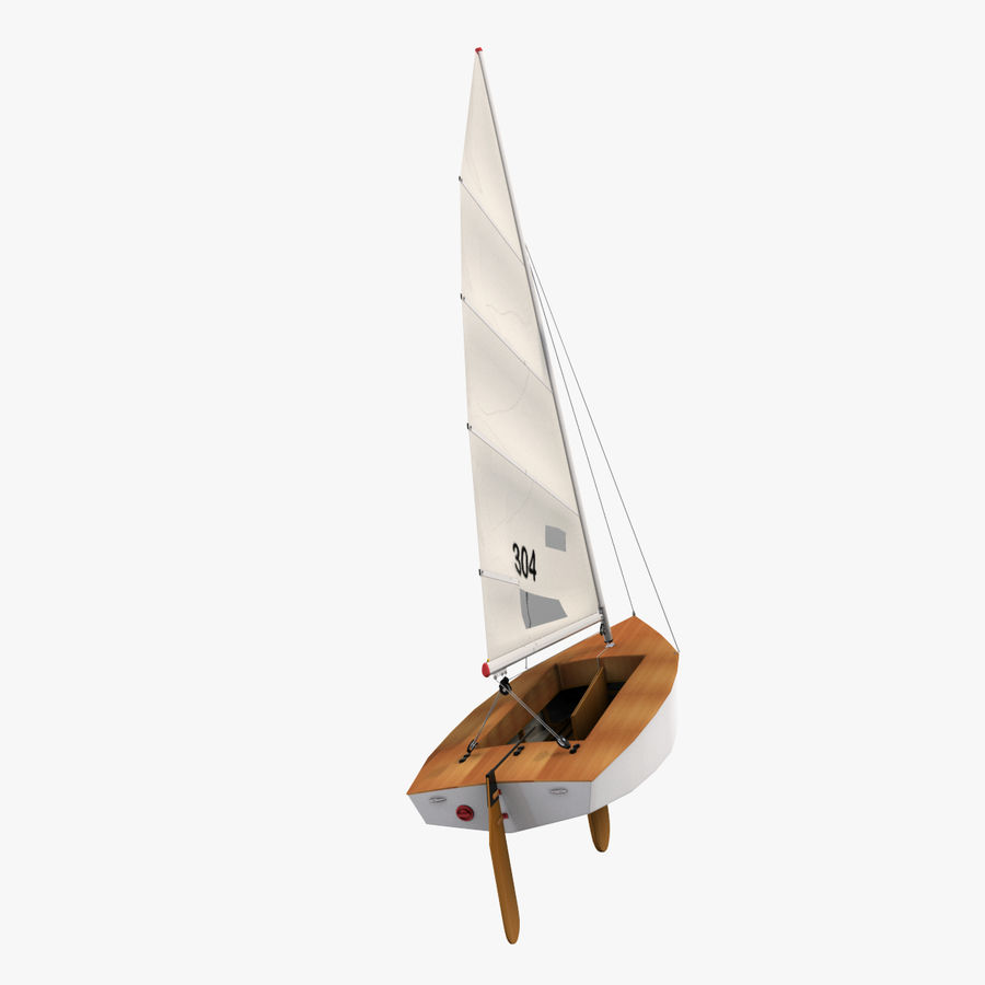 Segelboot royalty-free 3d model - Preview no. 8