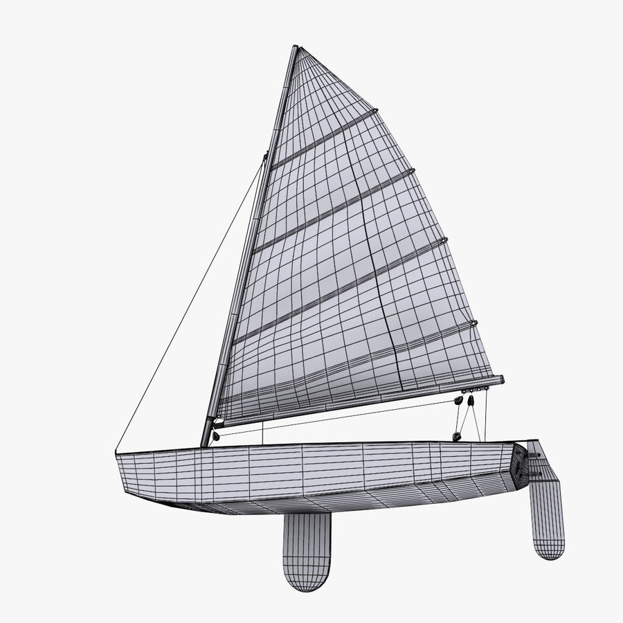 Segelboot royalty-free 3d model - Preview no. 19