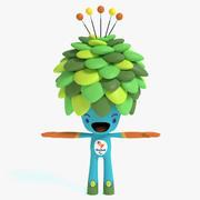 Mascote da árvore olímpica 3d model