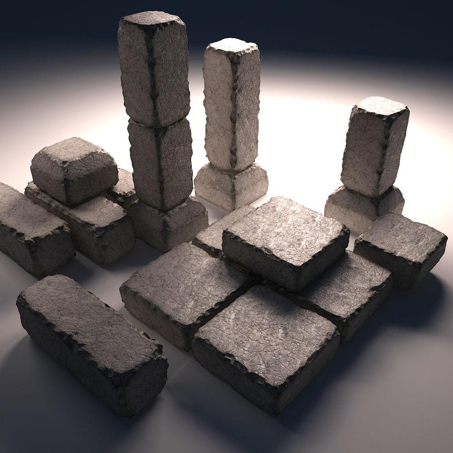 gros paquet de pierres royalty-free 3d model - Preview no. 2