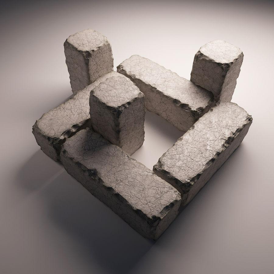 gros paquet de pierres royalty-free 3d model - Preview no. 5