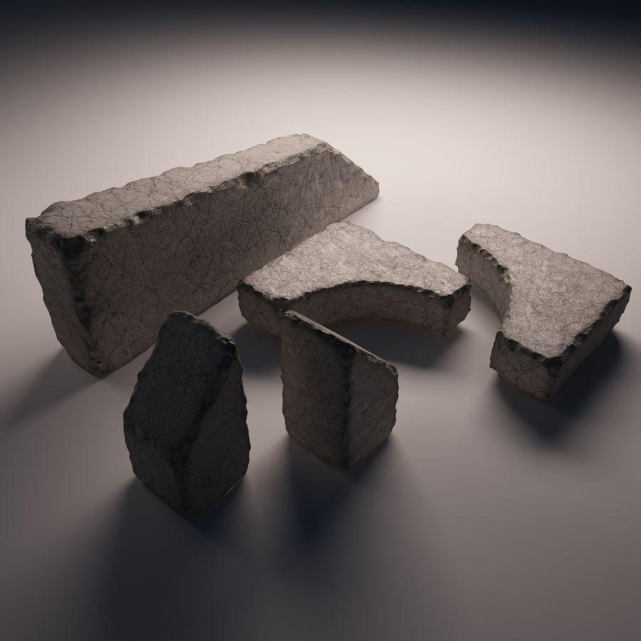 gros paquet de pierres royalty-free 3d model - Preview no. 3