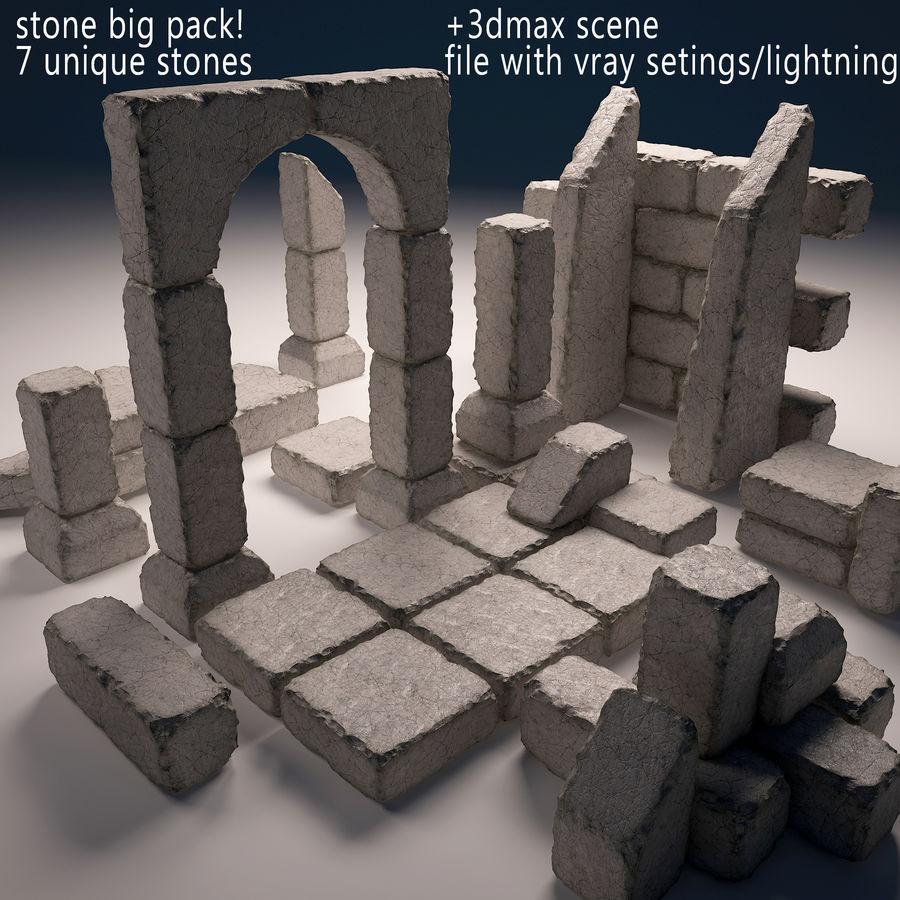 gros paquet de pierres royalty-free 3d model - Preview no. 1
