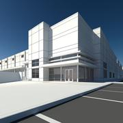 Retail and Warehouse building 3d model